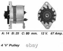Genuine WAI Alternator for Nissan Primera Carburettor GA16DS 1.6 (9/90-12/91)