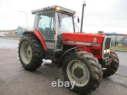 Massey Ferguson 3080 tractor 4WD PUH cab 6431 hrs Perkins 6 cylinder delivery