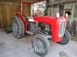 Massey Ferguson 35 Tractor 3 cylinder Perkins with 6ft Major topper mower VGC