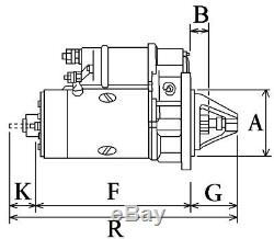 Massey Ferguson Starter Motor Lucas Marelli Type 12V Perkins Lrs195 Cargo 110615