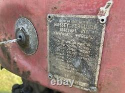 Massey Ferguson 35 Tracteur Cw MILL Loader Perkins Livre De Bord De 3 Cylindres Original