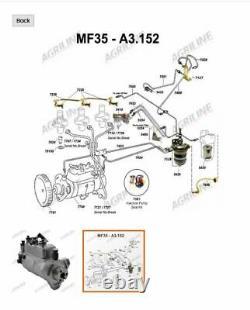 Pompe À Injection De Perkins A3.152 (7760) Convient Aux Modèles Industriels Mf50,202,203,204,205