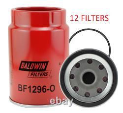 (cas De 12) Bf1296-o Baldwin Fuel Filter Fs19907 Pour Asv Massey Ferguson Terex